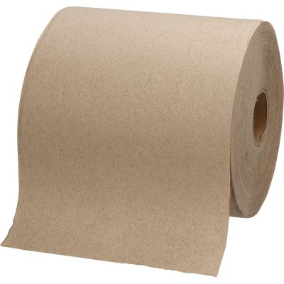 "Genuine Joe 22800 Hardwound Roll Paper Hand Towels, 7-7/8"" x 1000', Brown - 6 / Case"