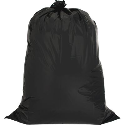 "Genuine Joe 2311 42 Gallon Trash Can Liners / Garbage Bags, 2.5 Mil, 33"" x 48"", Black - 20 / Case"