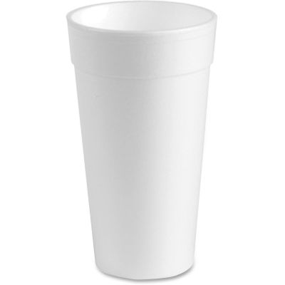Genuine Joe 25251 24 oz Foam Hot / Cold Cups, White - 300 / Case
