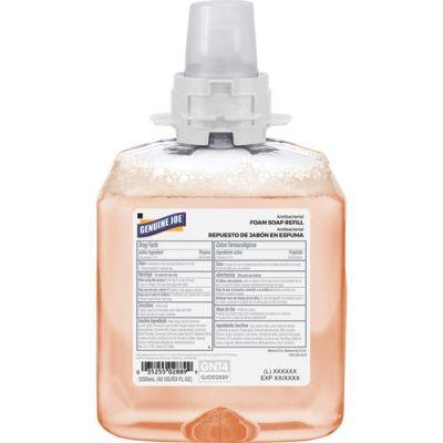 Genuine Joe 2889 Antibacterial Foaming Hand Soap, Orange Blossom, 1250 mL Cartridge - 4 / Case
