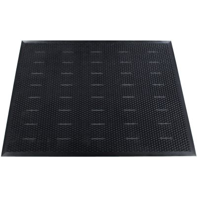 Genuine Joe 32590 Free Flow Anti-Fatigue Floor Mat, Beveled Edges, 3' x 4', Black - 1 / Case