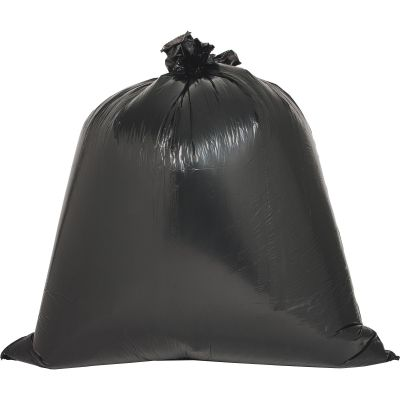 "Genuine Joe 3339 31-33 Gallon Trash Can Liners / Garbage Bags, 0.6 Mil, 33"" x 39"", Brown / Black - 60 / Case"