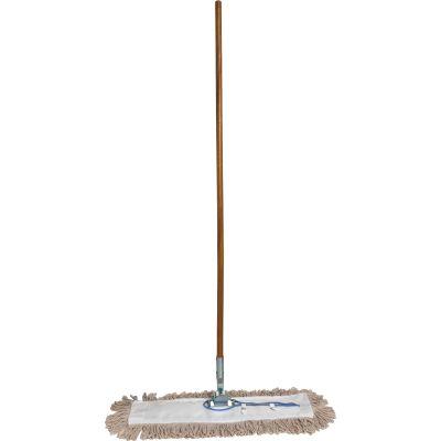 """Genuine Joe 54101 Dust Mop, Swivel Head, 60"""" Wood Handle - 1 / Case"""