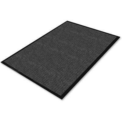 Genuine Joe 55351 Indoor Floor Mat, Carpet / Vinyl Backing, 3' x 5', Charcoal - 1 / Case