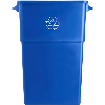 "Genuine Joe 57258 23 Gallon Recycling Container, 22.5"" x 11"" x 30"", Blue - 1 / Case"
