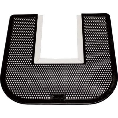 Genuine Joe 58331 Deodorizing Toilet Commode Floor Mat, Black - 1 / Case