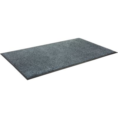 "Genuine Joe 58464 Indoor Wiper Floor Mat, Nylon Carpet / Rubber Back, 43.5"" x 66"", Gray - 1 / Case"