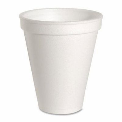 Genuine Joe 58550 8 oz Foam Hot / Cold Cups, White - 1000 / Case