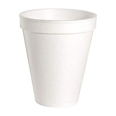 Genuine Joe 58551 10 oz Foam Hot / Cold Cups, White - 1000 / Case