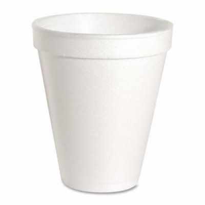 Genuine Joe 58552 12 oz Foam Hot / Cold Cups, White - 1000 / Case