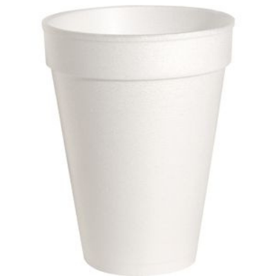 Genuine Joe 58553 14 oz Foam Hot / Cold Cups, White - 1000 / Case