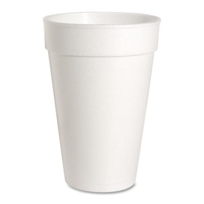 Genuine Joe 58554 16 oz Foam Hot / Cold Cups, White - 500 / Case