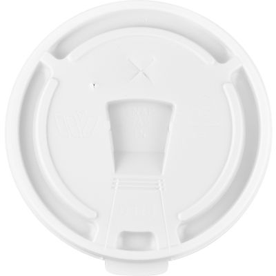 Genuine Joe 58555 Lids for 12-24 oz Foam Cups, Plastic, White - 1000 / Case