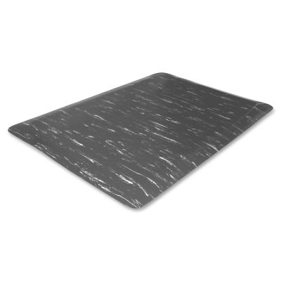 Genuine Joe 58840 Anti-Fatigue Floor Mat, Foam, Beveled Edges, 3' x 5', Gray Marble - 1 / Case