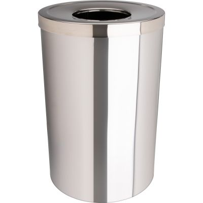 "Genuine Joe 58895 30 Gallon Trash Can, 20"" x 31-1/2"", Stainless Steel - 1 / Case"