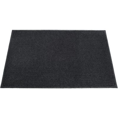 Genuine Joe 58936 Eternity Indoor Floor Mat, Plastic / Rubber, 3' x 5', Charcoal Gray - 1 / Case