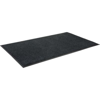 "Genuine Joe 59354 Indoor Wiper Floor Mat, Nylon Carpet / Rubber Back, 33.5"" x 56"", Black - 1 / Case"
