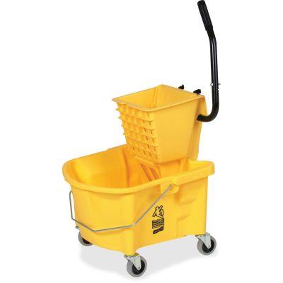 "Genuine Joe 60466 Mop Bucket Wringer Combo, 3"" Casters, 26 Quart, Yellow - 1 / Case"