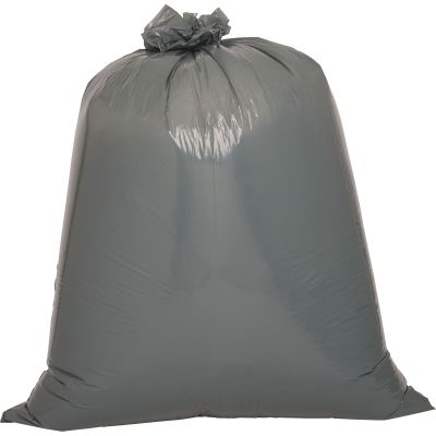 "Genuine Joe 70342 40-45 Gallon Trash Can Liners / Garbage Bags, 1.55 Mil, 39"" x 46"", Silver / Gray - 50 / Case"