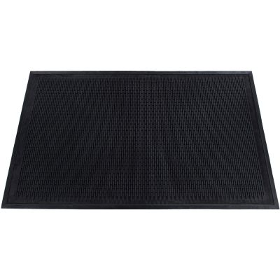 Genuine Joe 70367 Clean Step Scraper Outdoor Mat, Rubber, 3' x 5', Black - 1 / Case
