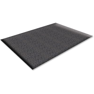 Genuine Joe 70371 Soft Step Anti-Fatigue Floor Mat, Thick Vinyl, 3' x 10', Black - 1 / Case