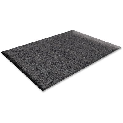 Genuine Joe 70372 Anti-Fatigue Floor Mat, Thick Vinyl, 3' x 5', Black - 1 / Case