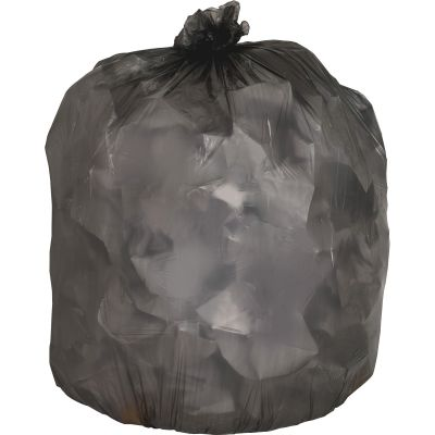 "Genuine Joe 70422 56 Gallon Trash Can Liners / Garbage Bags, 0.58 Mil, 43"" x 47"", Black - 200 / Case"