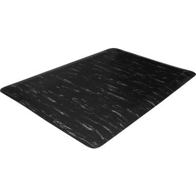 Genuine Joe 71211 Anti-Fatigue Floor Mat, 2' x 3', Black Marble - 1 / Case