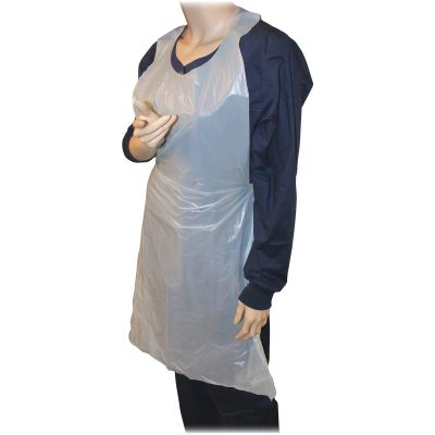 "Genuine Joe 85141 Disposable Aprons, Polyethylene, 32"" x 50"", White - 100 / Case"