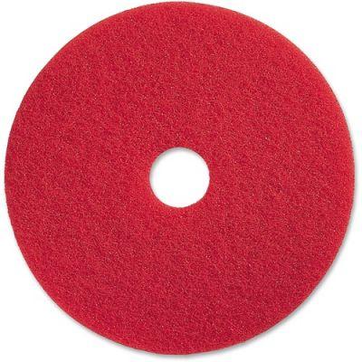 """Genuine Joe 90417 17"""" Red Buffing Floor Pad - 5 / Case"""