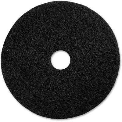 "Genuine Joe 94117 17"" Advanced Design Floor Pad, Black - 5 / Case"