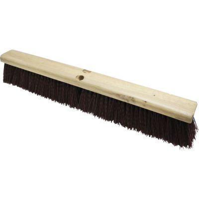 "Genuine Joe 99653 Push Broom Head, Polypropylene, Heavy Duty, 24"", Maroon - 1 / Case"