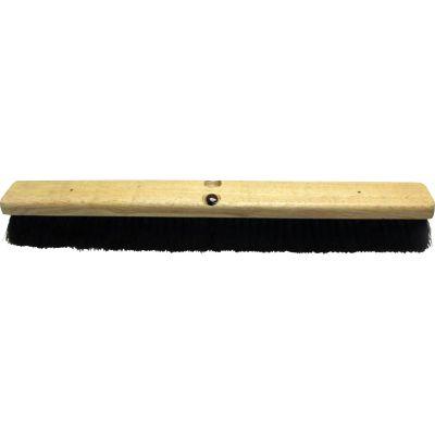 """Genuine Joe 99655 Hardwood Block Tampico Broom Head, 24"""", Black / Brown - 1 / Case"""
