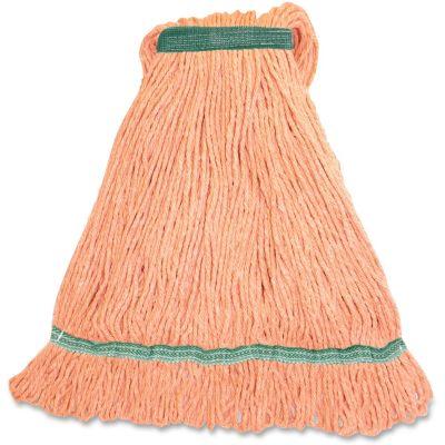 Genuine Joe MOR1B Orange Rayon / Cotton Mop Heads, 16 oz - 12 / Case