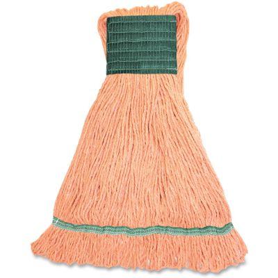 Genuine Joe MOR5B Orange Rayon / Cotton Mop Heads, Wide Band, 16 oz - 12 / Case