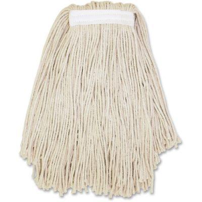 Genuine Joe N16COT Cotton Mop Heads, #16, Cut-End, Clamp Style - 12 / Case