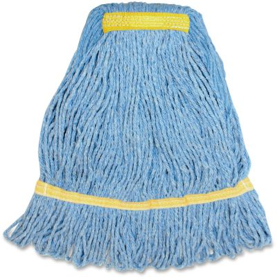 Genuine Joe SBL1B Blue Mop Heads, 12 oz - 12 / Case