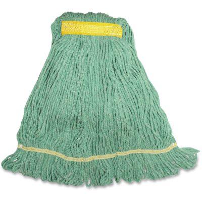 Genuine Joe SGR1B Green Mop Heads, 12 oz - 12 / Case