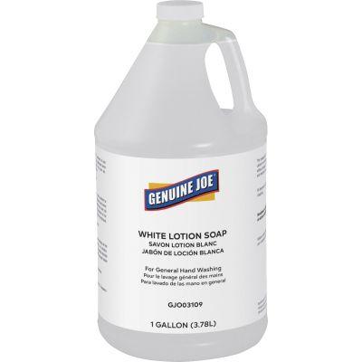 Genuine Joe 03109 White Lotion Hand Soap, Liquid, 1 Gallon - 4 / Case