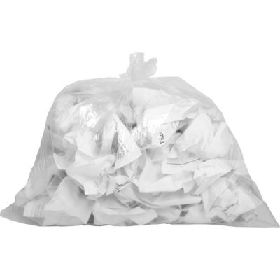 """Genuine Joe 01010 7-10 Gallon Trash Can Liners / Garbage Bags, 0.6 Mil, 24"""" x 23"""", Clear - 500 / Case"""