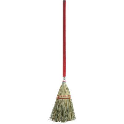 """Genuine Joe 11501 Toy Broom, Corn Fiber, 24"""" Wood Handle, Red - 12 / Case"""
