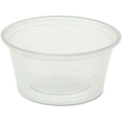 Genuine Joe 19062 2 oz Plastic Portion Cups, Polystyrene, Clear - 2500 / Case