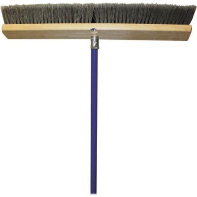 """Genuine Joe 20128 18"""" Floor Sweeper Broom w/ 60"""" Handle - 1 / Case"""