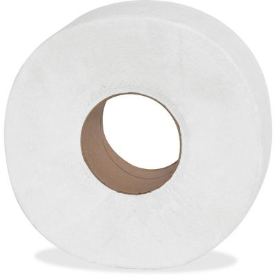 "Genuine Joe 2565012 Jumbo Roll Toilet Paper, 2 Ply, Recycled, 8.63"" x 650' - 12 / Case"