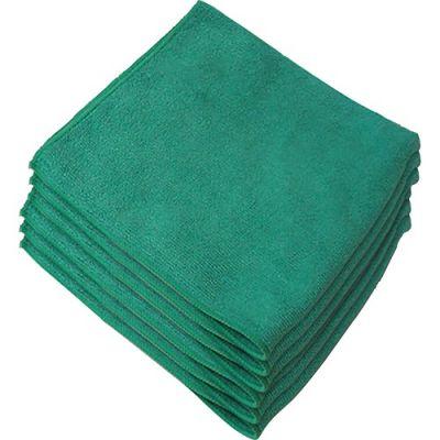 "Genuine Joe 39505 Microfiber Kitchen Cleaning Cloths, 16"" x 16"", Green - 180 / Case"