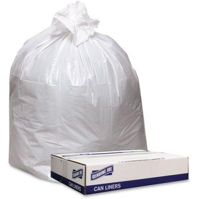 "Genuine Joe 4046W 40-45 Gallon Trash Bags, 0.9 Mil, 40"" x 46"" - 100 / Case"
