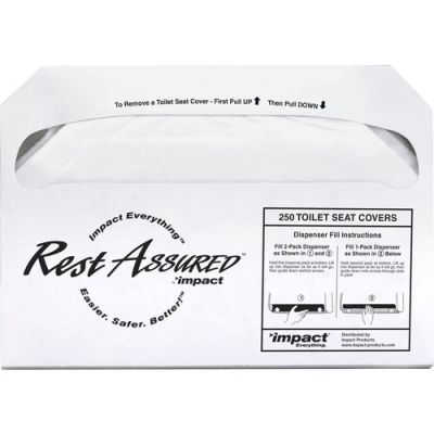 Genuine Joe 85125 Toilet Seat Covers, 1/2 Fold, White - 5000 / Case