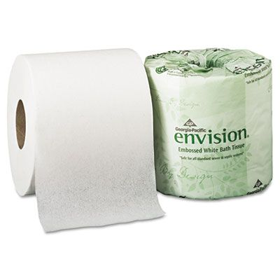 Georgia-Pacific 1984101 Envision 1 Ply Toilet Paper, 550 Sheets / Standard Roll - 40 / Case