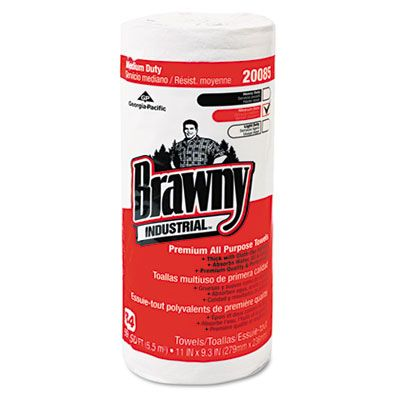 "Georgia-Pacific 20085 Brawny Perforated Wipers, 11"" x 8-5/16"", 84 Sheets / Roll - 20 / Case"
