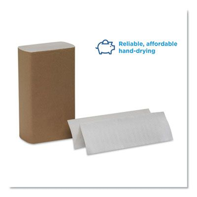 """Georgia-Pacific 20204 Pacific Blue Basic Multifold Paper Hand Towels, 9-1/4"""" x 9-1/2"""", White - 4000 / Case"""